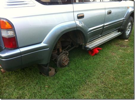 Car Fell Over